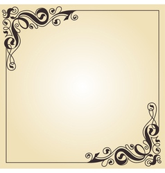 calligraphy ornament frame vector image