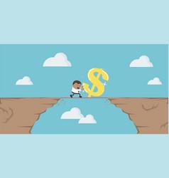 cartoon business concept financial risks vector image