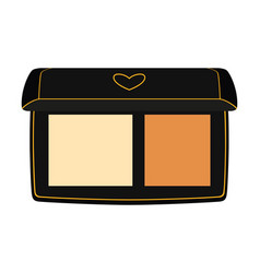 Colorful cartoon 2 color compact face powder vector