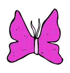 comic cartoon butterfly symbol vector image