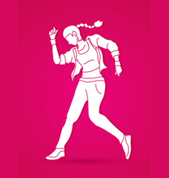 Dancing action dancer training graphic 6 vector