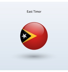 East Timor round flag vector image