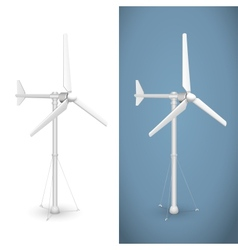 Eco wind turbine isolated vector image