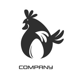 egg and chicken logo vector image
