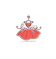 Fashion boutique and store logo label emblems vector