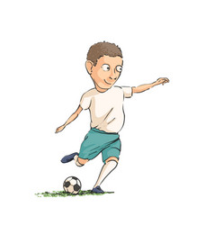 Football player running with the ball vector
