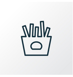 french fries icon line symbol premium quality vector image