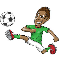 fun nigerian soccer player cartoon vector image