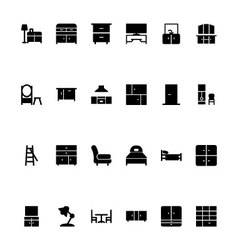 Furniture Hand Drawn Icons 3 vector