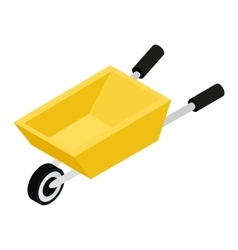 Garden wagon 3d isometric icon vector