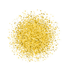 Glitter golden round vector