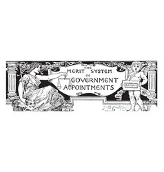 Government appointments word is a center of frame vector