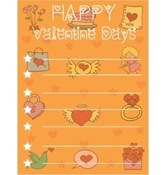 Greeting card on orange backgrounds vector