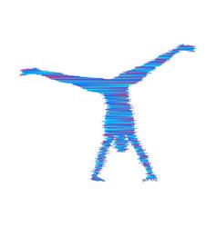 gymnast silhouette of a dancer sport symbol vector image
