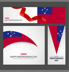 Happy samoa independence day banner and vector