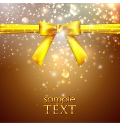 Holiday background with yellow bow vector