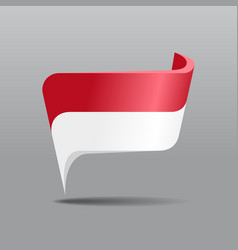 Indonesian flag map pointer layout vector