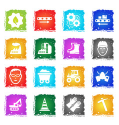 Industrial icon set vector