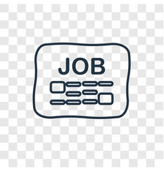job search concept linear icon isolated on vector image