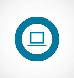 Laptop bold blue border circle icon vector