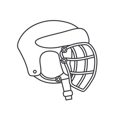 line icon hockey rugby baseball defense vector image