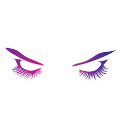Logo eyelashes stylized hair abstract lines vector