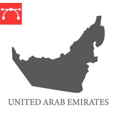 Map united arab emirates glyph icon vector