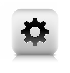 Media player icon with cog settings sign vector image