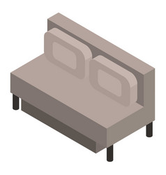 modern sofa icon isometric style vector image