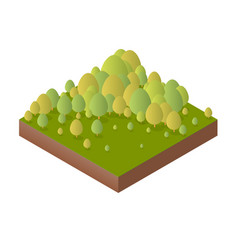 Nature forest landscape of isometric vector