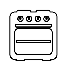 oven isolated icon design vector image