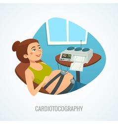 Pregnancy cardiotocography composition concept vector image