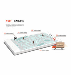 red cargo delivery transporation infographic vector image