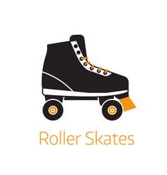 roller skates outline icon or logo template vector image