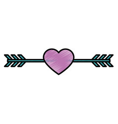 romantic bow arrow vector image