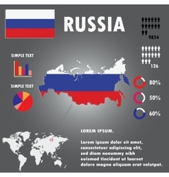 Russia Country Infographics Template vector