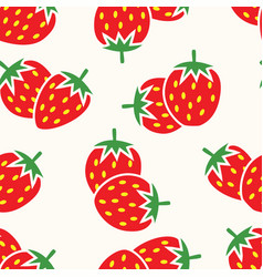 Seamless repeating strawberry pattern vector