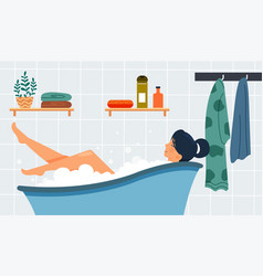 Self-care and relax concept vector