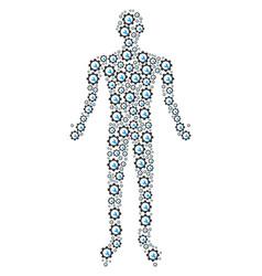 service tools person figure vector image