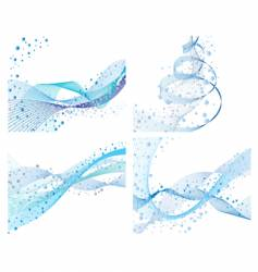 set of water backgrounds vector image