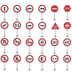Set traffic signals on a white background vector