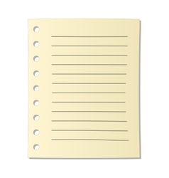 Sheet of notebook cartoon icon vector image