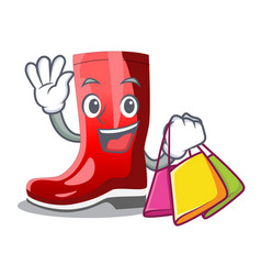 Shopping single of boots isolated on mascot vector