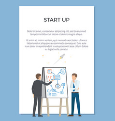 startup presentation poster vector image