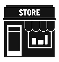 Street shop store icon simple style vector