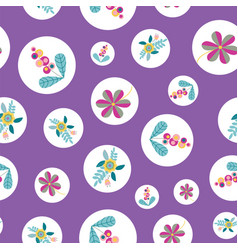 Stylized flower inside circle seamless vector