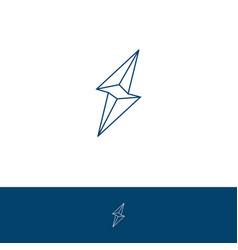 thunder icon vector image