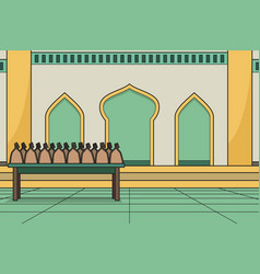 Using mosque courtyard as a place vector