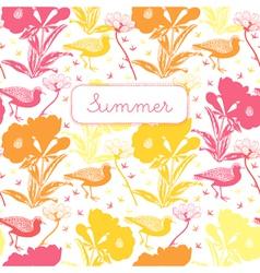 Vintage Summer Floral Pattern vector image