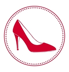 Vintage women shoe label vector image